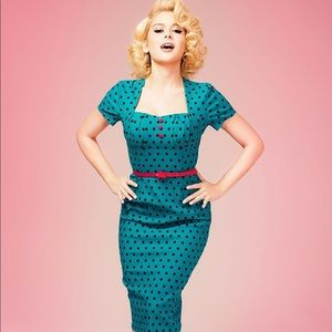 Pinup Girl Clothing Charlotte Dress in Jade